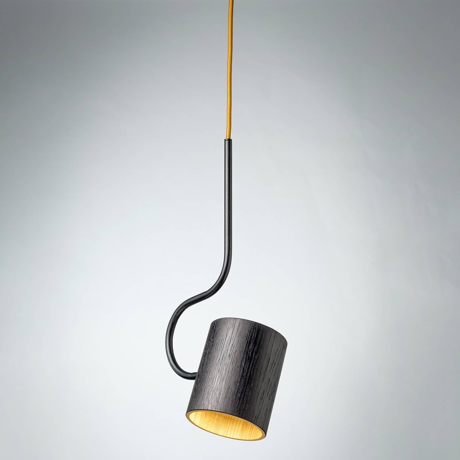 Hängeleuchte Bocal mit Holzschirm günstig online kaufen