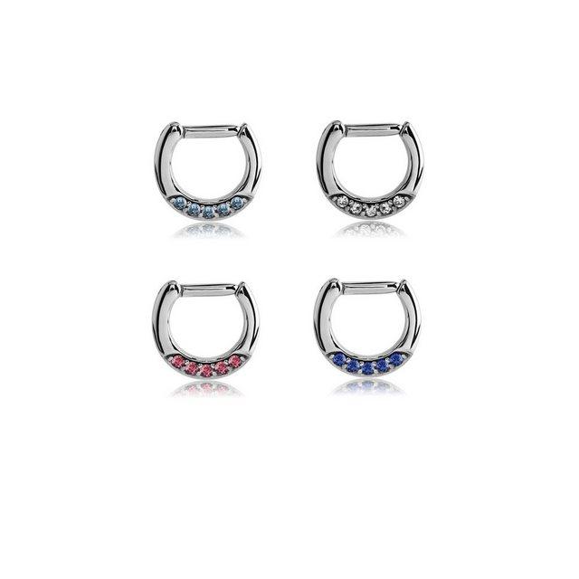 BodyJewel Nasenpiercing-Set Septumring, Kristallsteine, Chirurgenstahl 316L günstig online kaufen