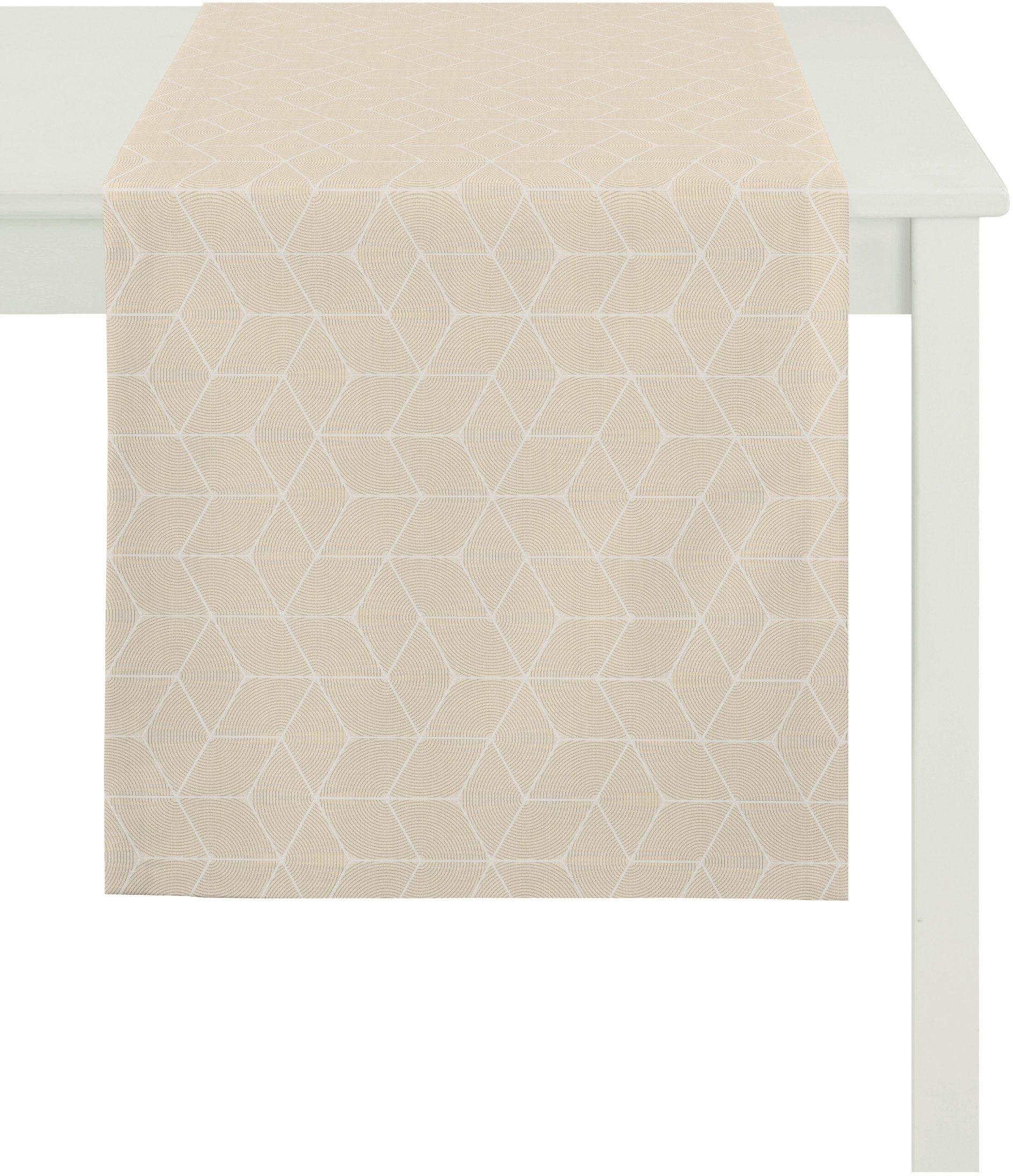 Tischdecke, grau, Material Polyester, Viskose »7901 Uni«, Apelt günstig online kaufen