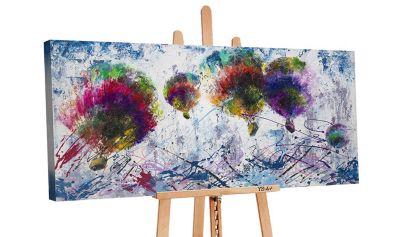 """YS-Art™ """"Gemälde Acryl """"""""Freiflug"""""""" handgemalt auf Leinwand"""" bunt Gr. 120 x günstig online kaufen"""