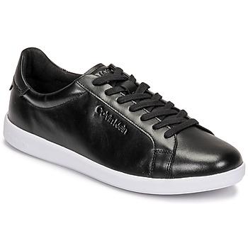 Calvin Klein – Niedrige Sneaker aus Leder in Schwarz günstig online kaufen