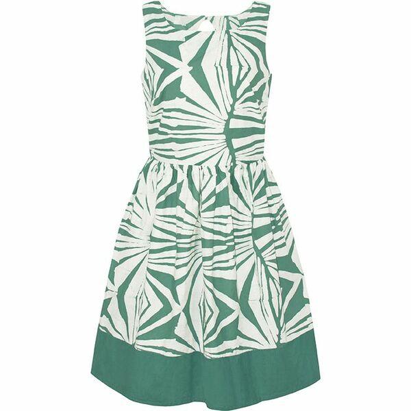 Bio Kleid - Party Dress - Rays Sage Olive & Tropics Tangerine Orange günstig online kaufen
