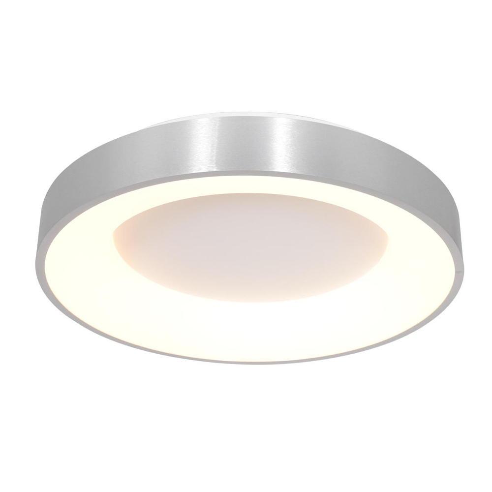 LED Deckenleuchte Ringlede in Silber und Weiß günstig online kaufen