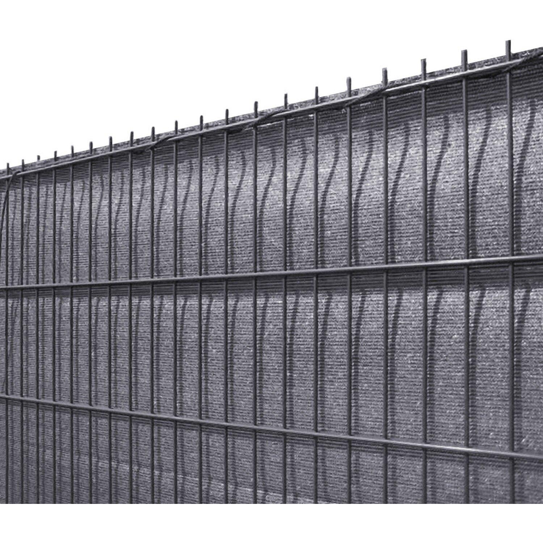 Solid Sichtschutzblende Anthrazit Grobe Struktur aus HDPE 100 cm x 500 cm günstig online kaufen