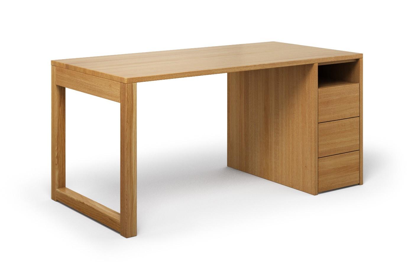 Schreibtisch Cantus aus Eiche günstig online kaufen
