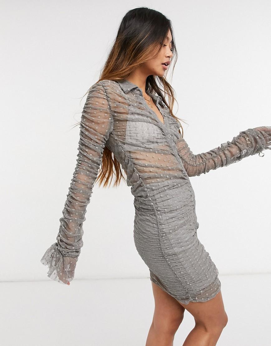 Steele – Kata – Kleid in Grau günstig online kaufen