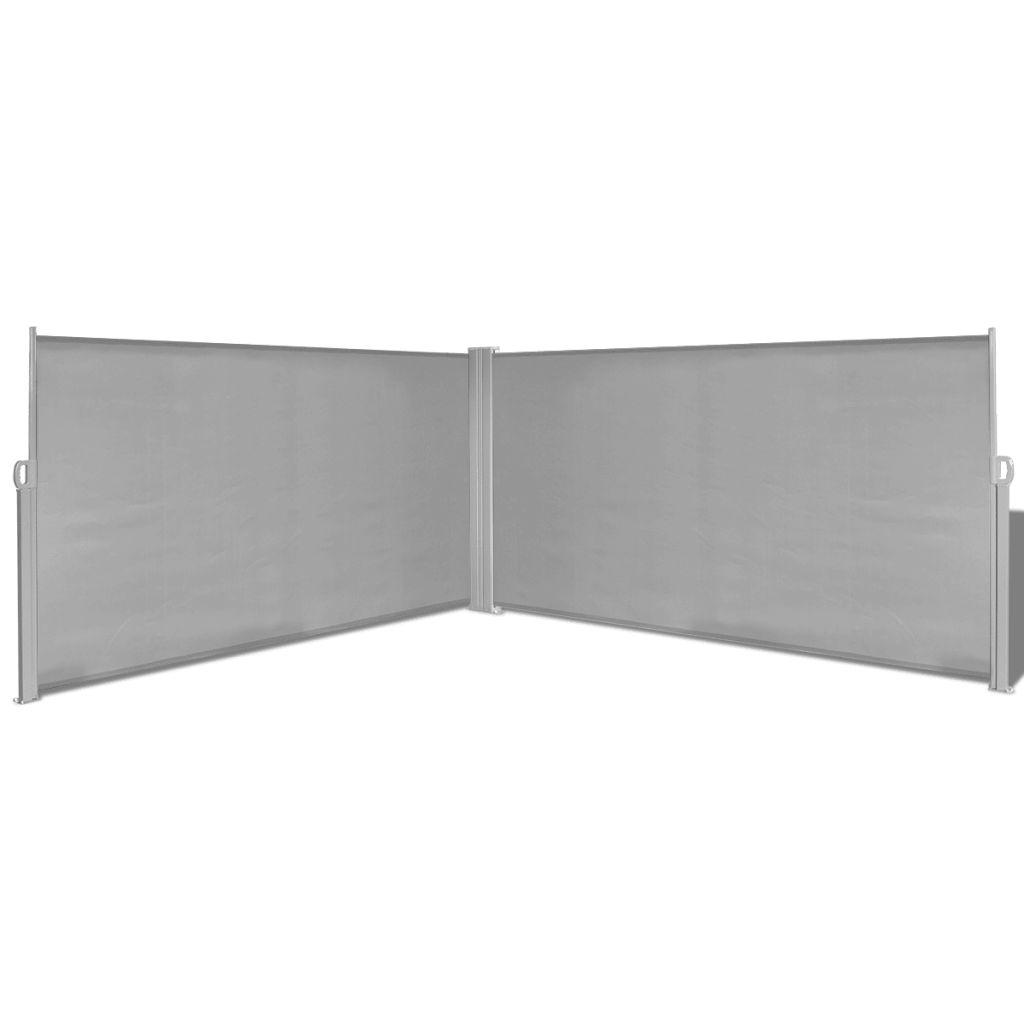 Ausziehbare Seitenmarkise 160x600 Cm Grau günstig online kaufen