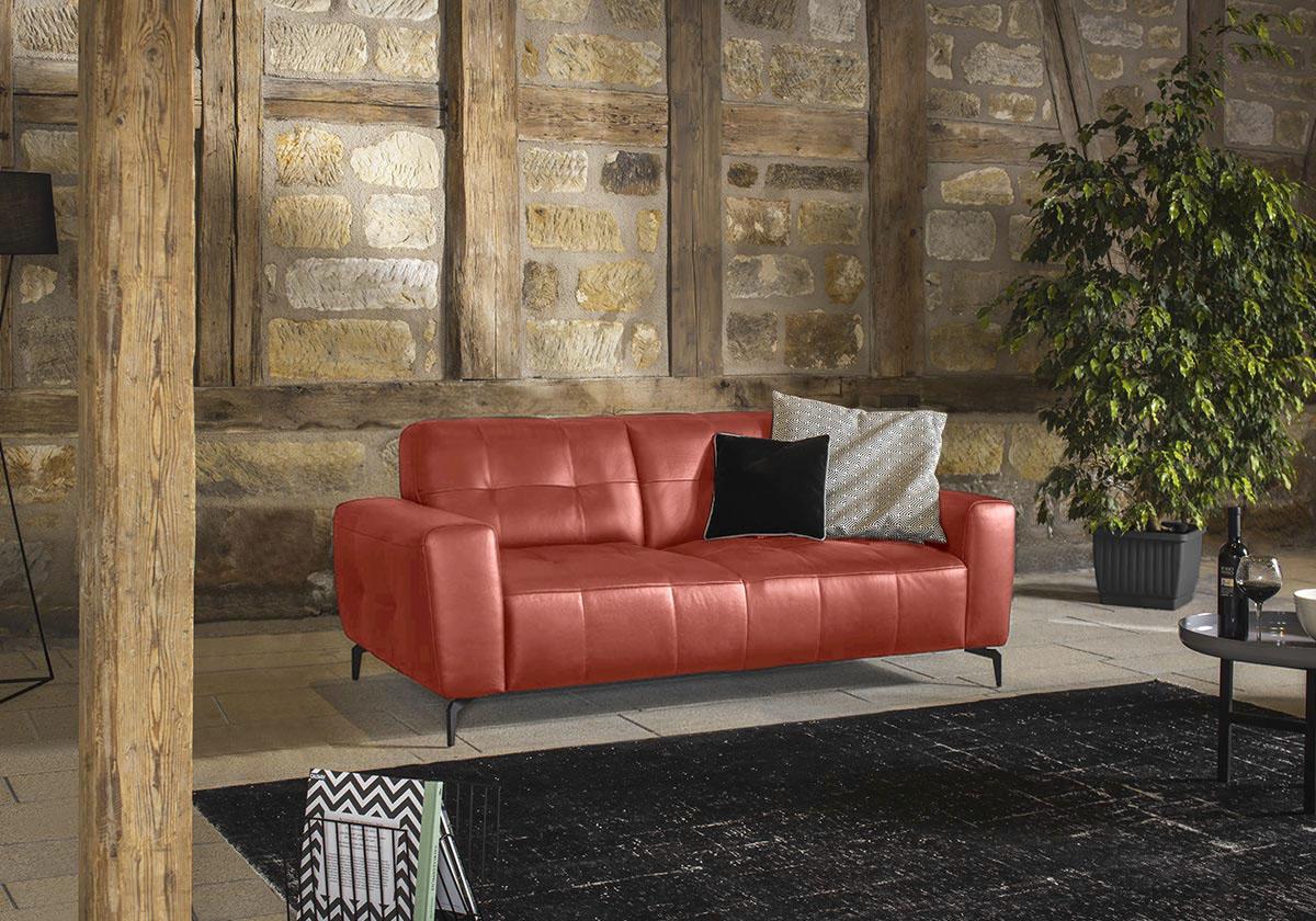 W.SCHILLIG 2,5-Sitzer wilson, mit Absteppungen, Füße Schwarz pulverbeschich günstig online kaufen