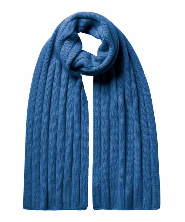 FALKE Scarf Schal, Onesize, Blau, Uni, Kaschmir, 67025-633700 günstig online kaufen