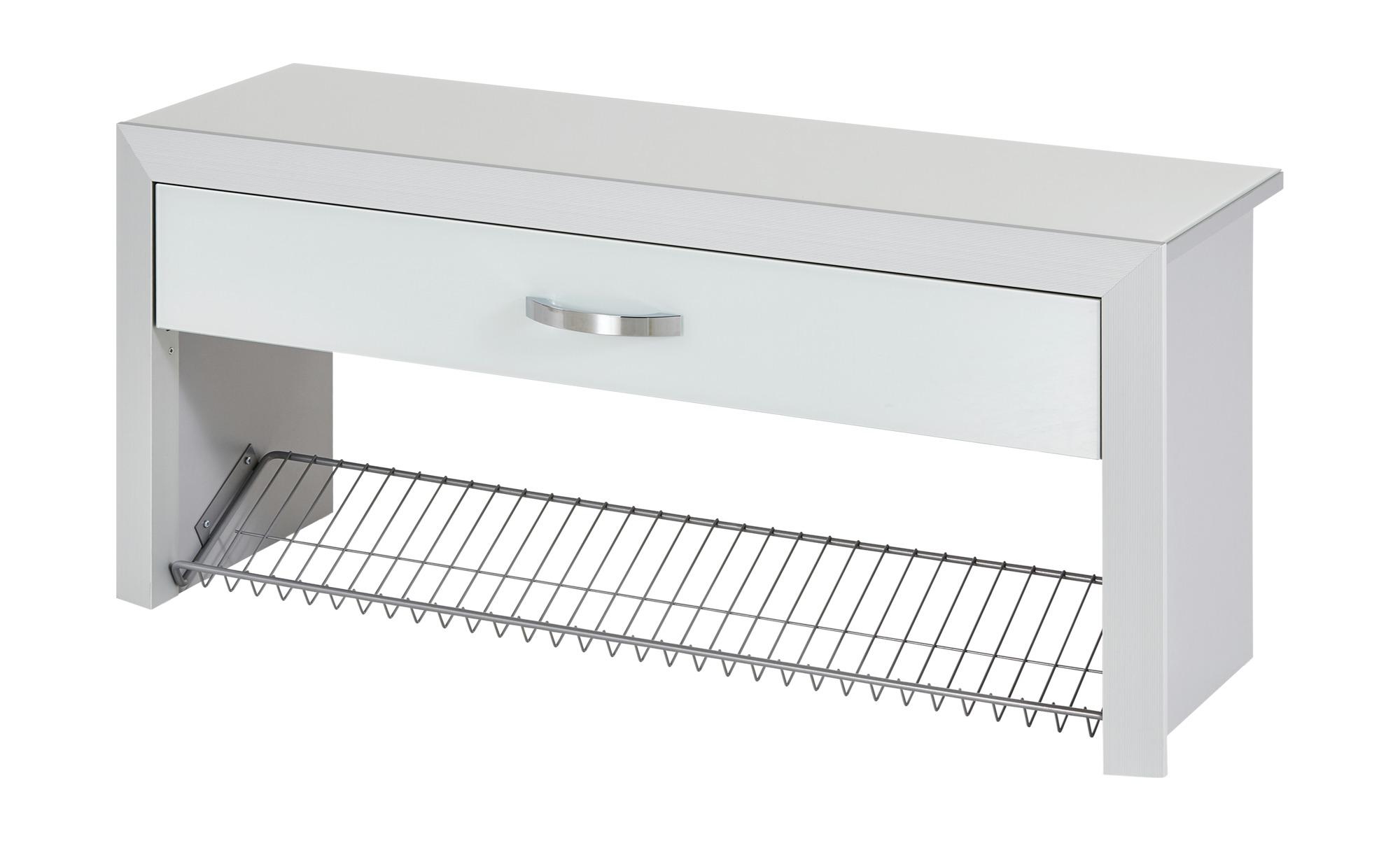 Wohnwert Garderobenbank   Intro - weiß - Bänke > Einzelbänke - Möbel Kraft günstig online kaufen