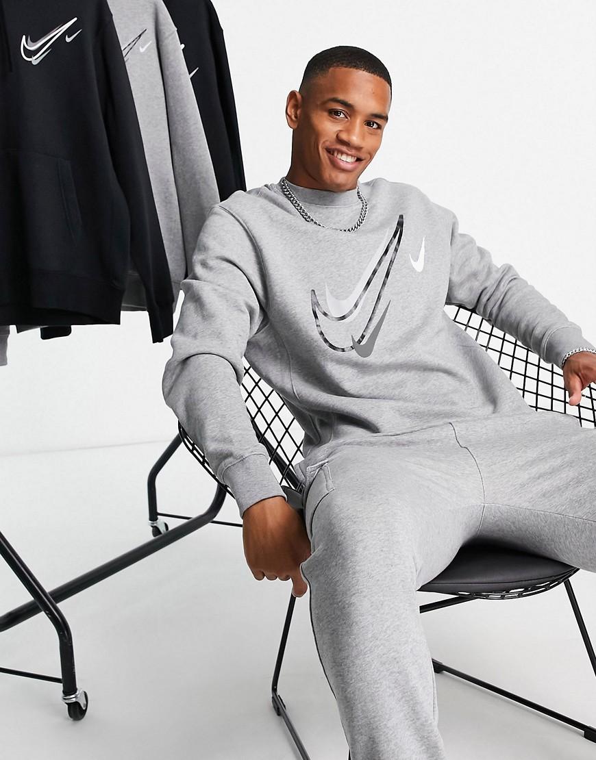 Nike – Summer of Sports – Sweatshirt in Grau mit Print günstig online kaufen