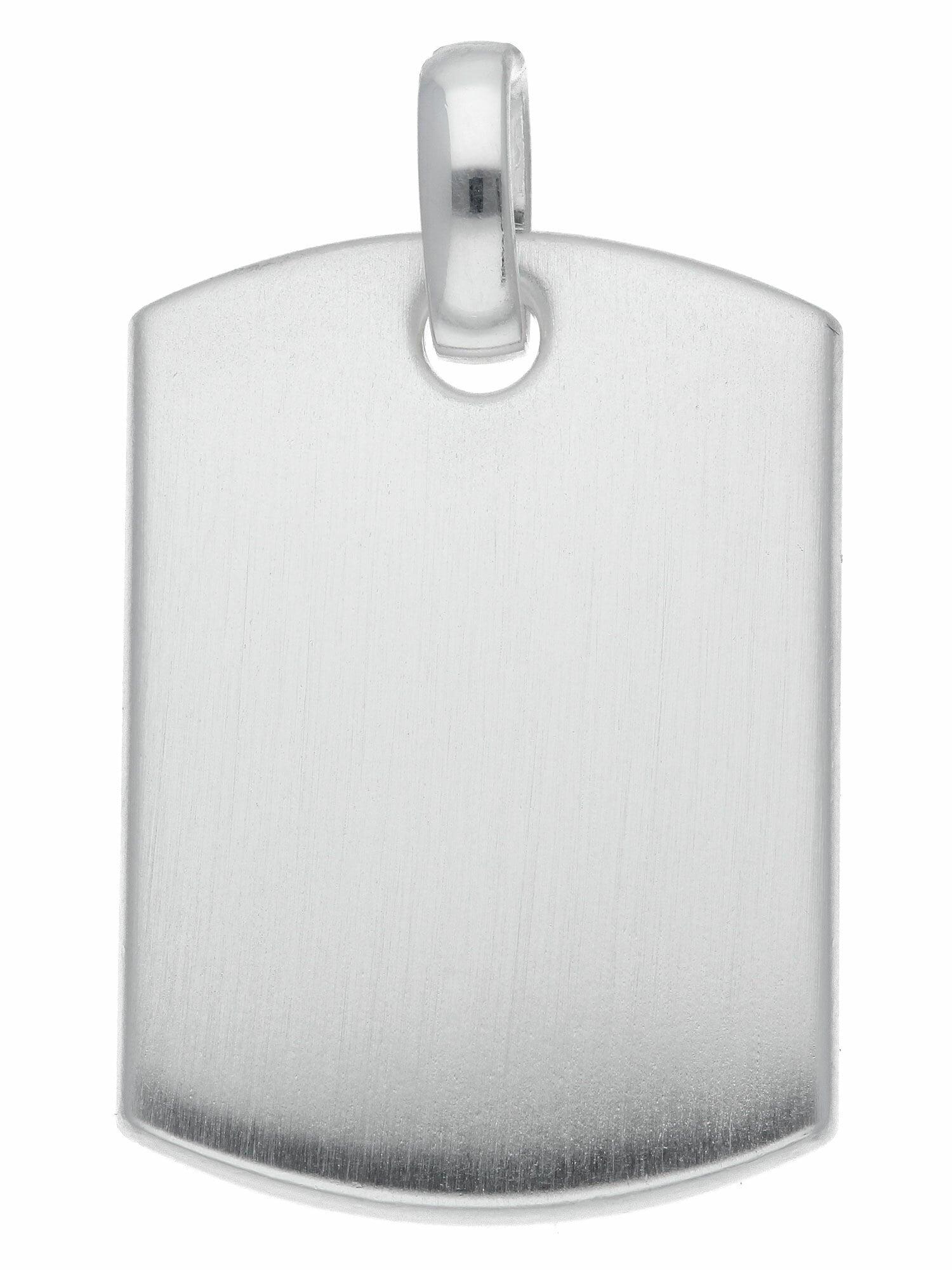 Adelia´s Kettenanhänger 925 Silber Gravurplatte Anhänger, Silberschmuck für günstig online kaufen