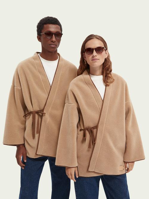 Scotch & Soda Sherpa Kimono-Jacke günstig online kaufen
