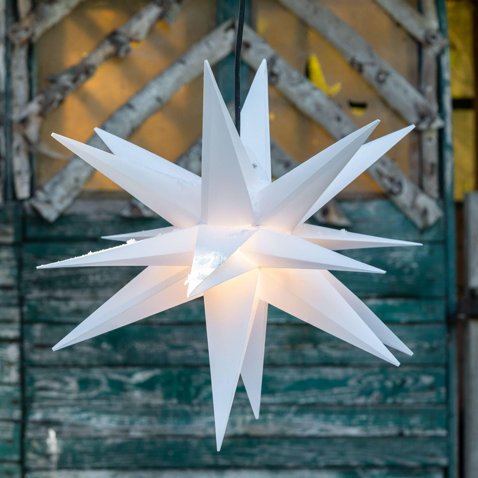 Stern Ganesha 28-zackig für Außen in Weiß günstig online kaufen