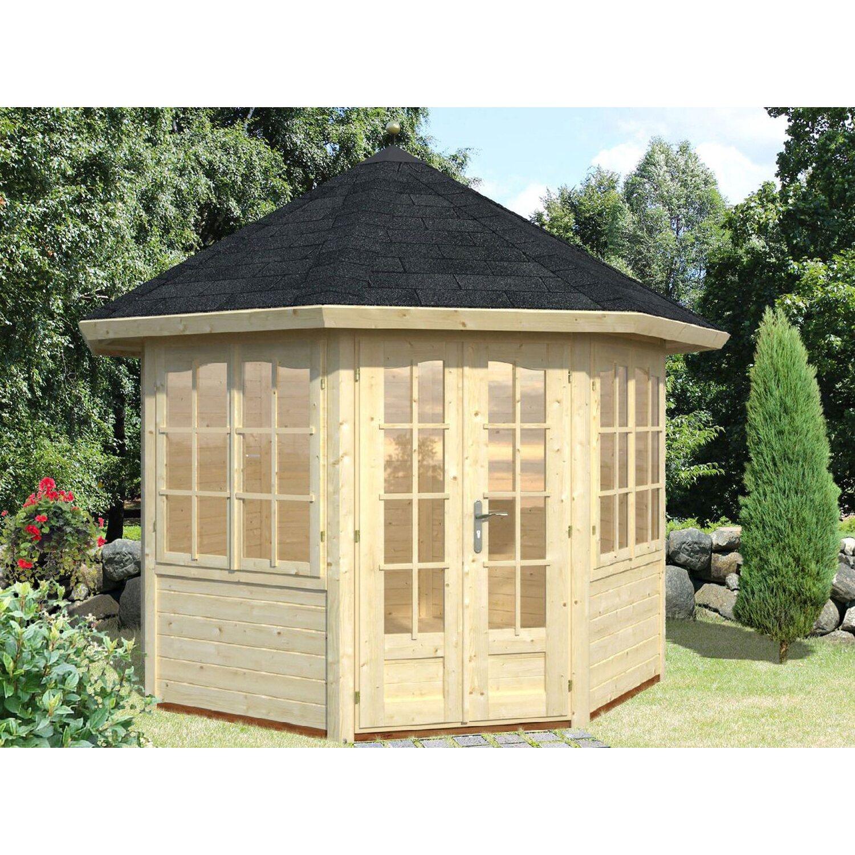 Palmako Holz-Pavillon Veronica 2 Natur unbehandelt 289 cm x 289 cm günstig online kaufen