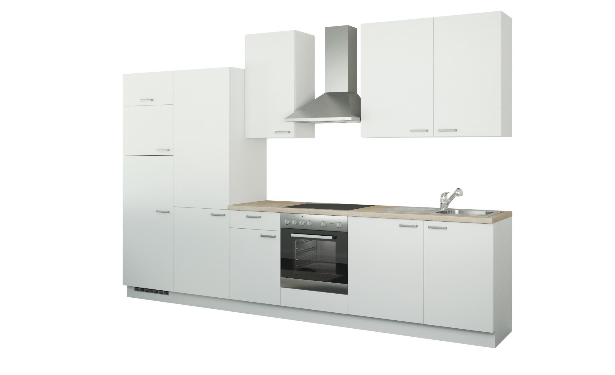 Küchenzeile mit Elektrogeräten - weiß - Aktuelle Gutschein Aktion > Schlafz günstig online kaufen