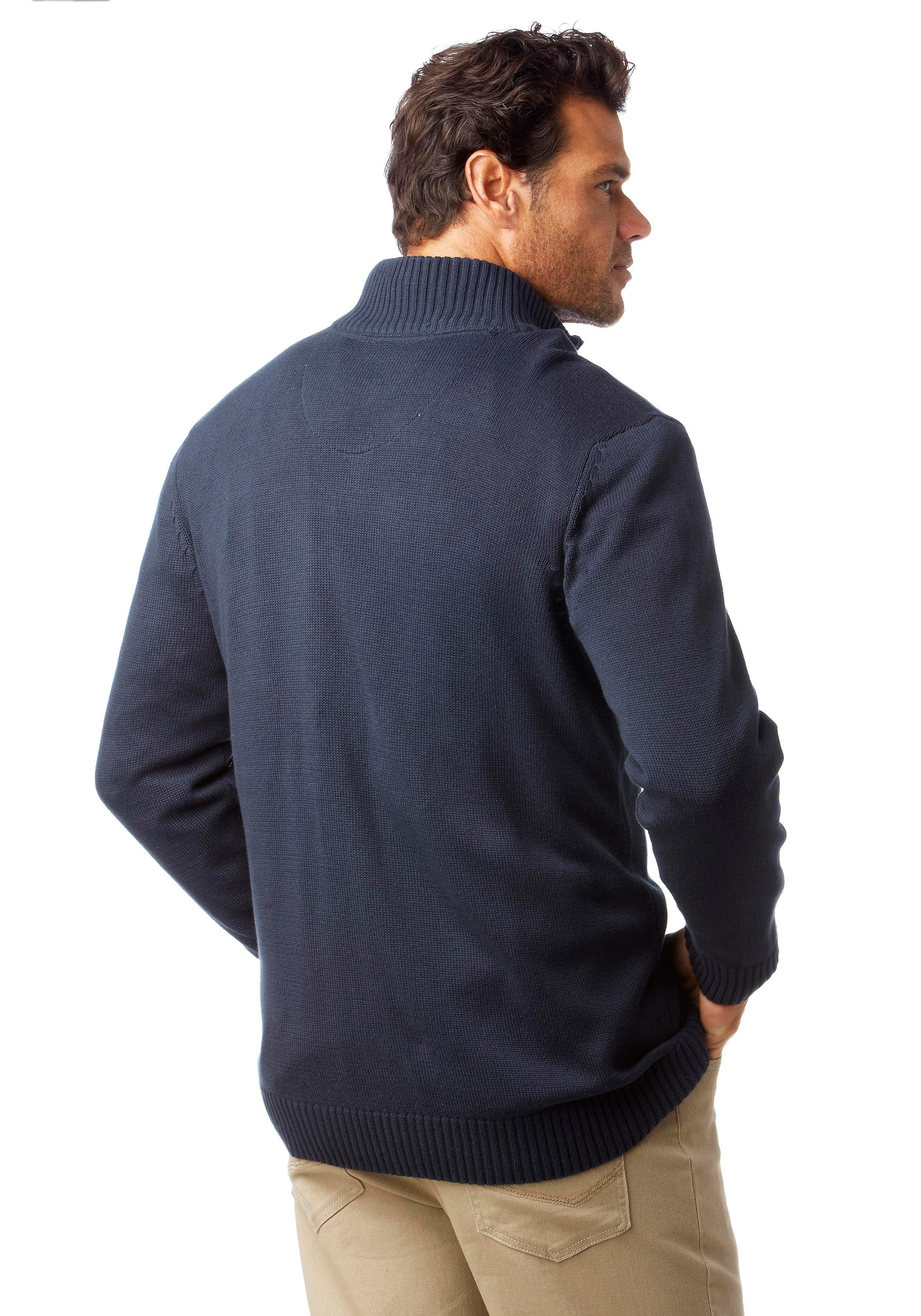 Man's World Strickjacke aus Baumwollmischung günstig online kaufen