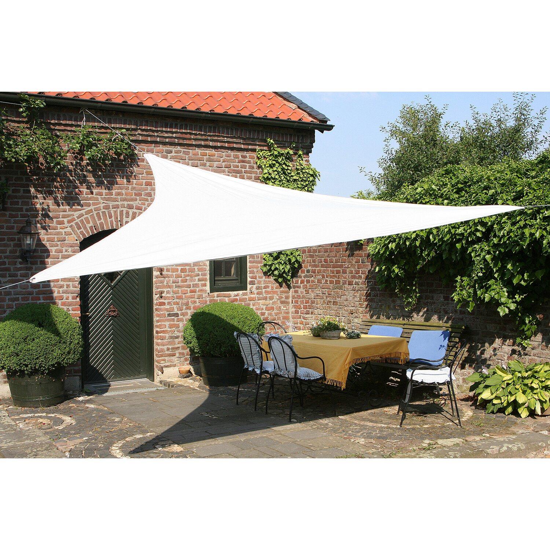 Floracord Dreiecksonnensegel Hell Silbergrau 360 cm mit Regenschutz günstig online kaufen