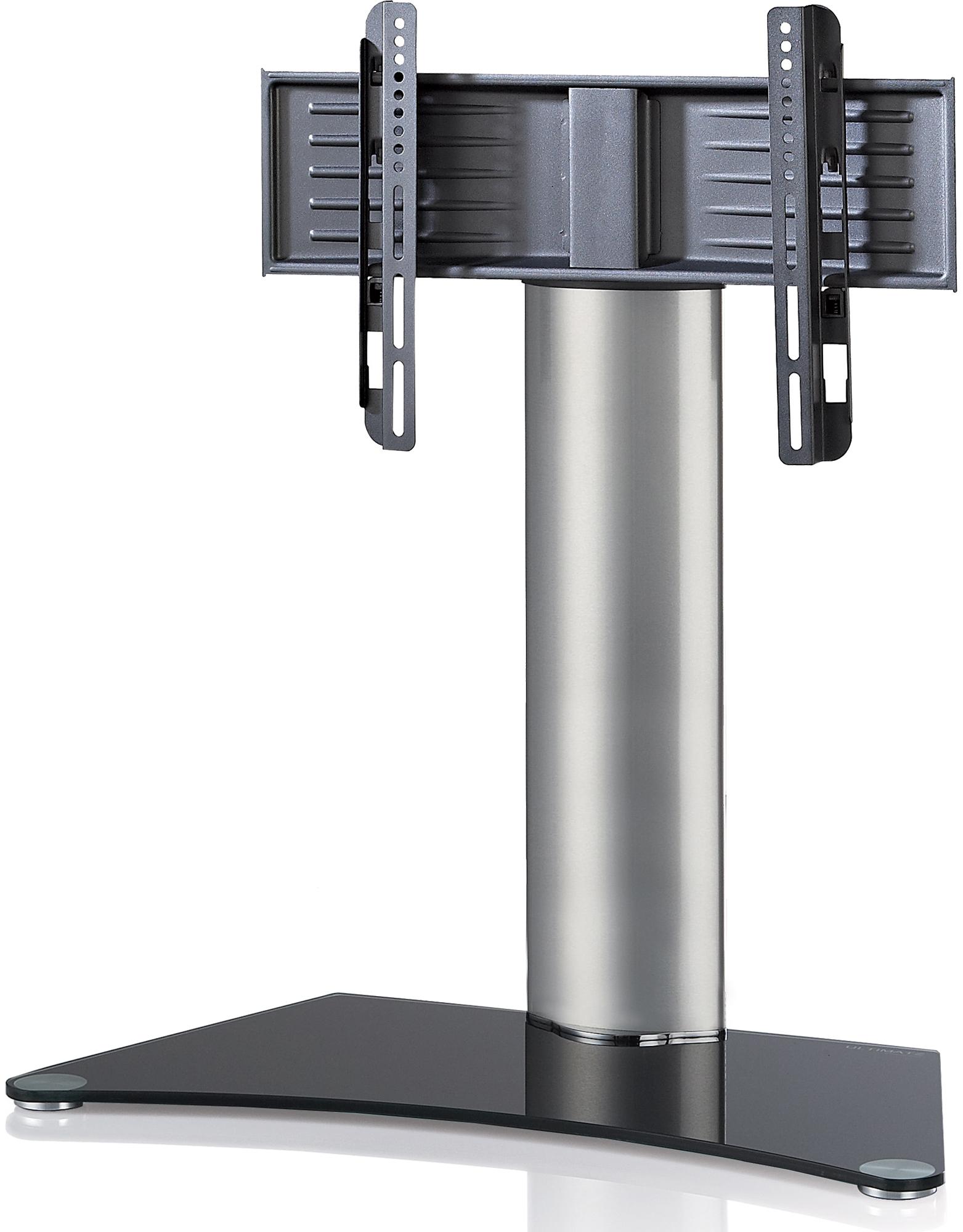 TV Tisch-Standfuß VCM Windoxa Maxi - Silber/Schwarzglas günstig online kaufen