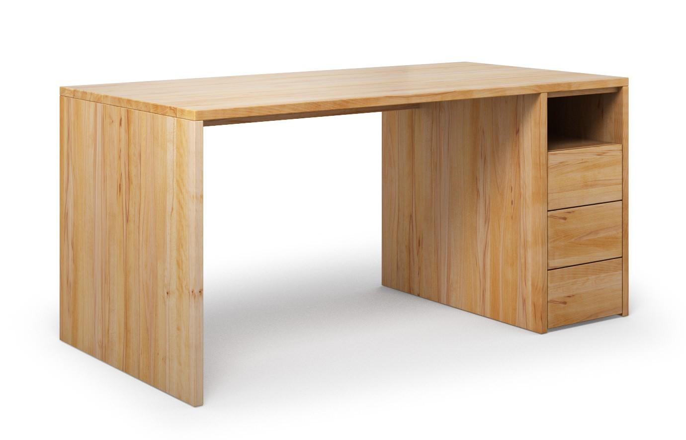 Schreibtisch Labora aus Buche rustikal günstig online kaufen