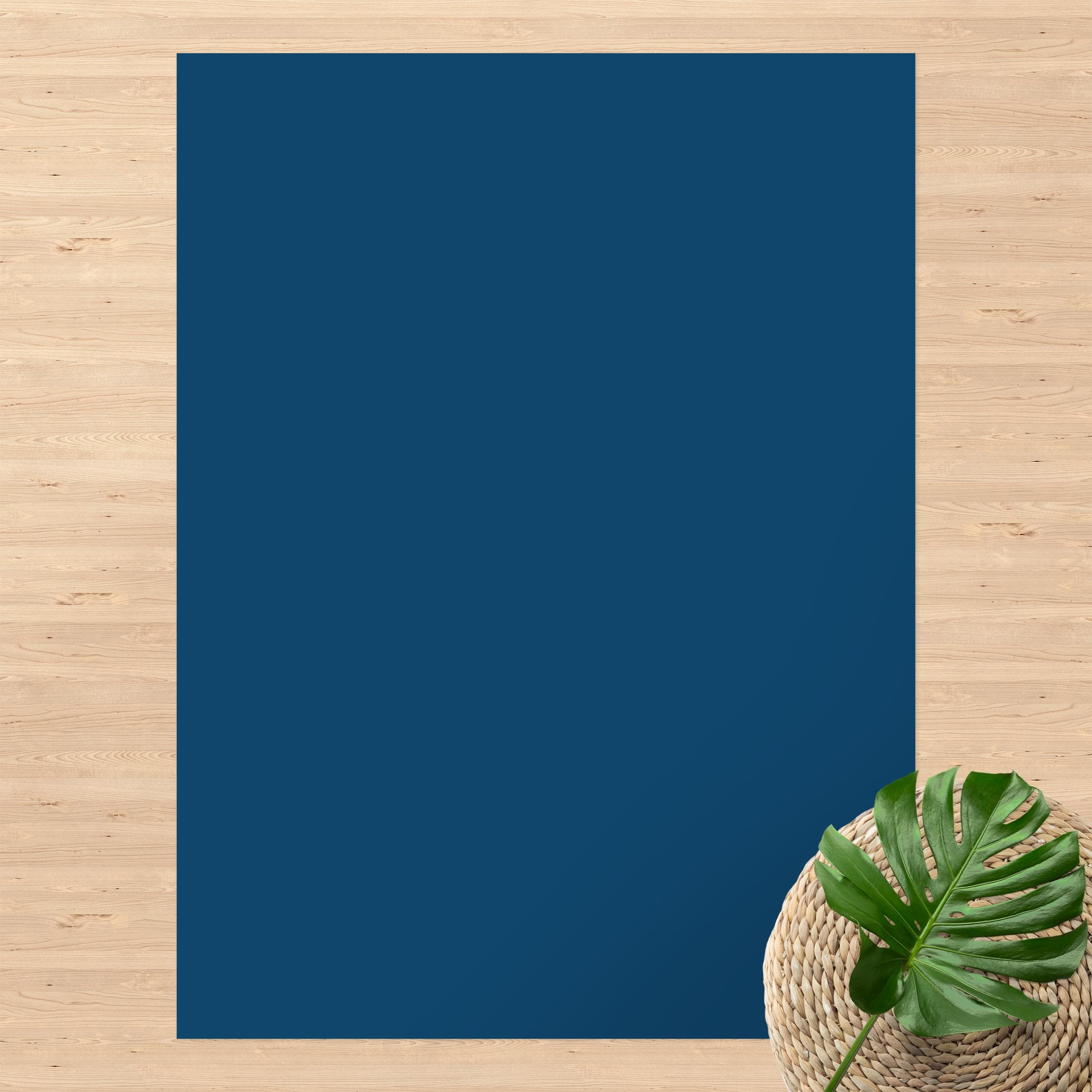 Vinyl-Teppich Preussisch-Blau günstig online kaufen