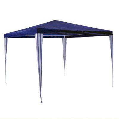 VCM Pavillon 3x3 m in blau PE Plane Partyzelt Gartenzelt Sonnenschutz Stahl günstig online kaufen