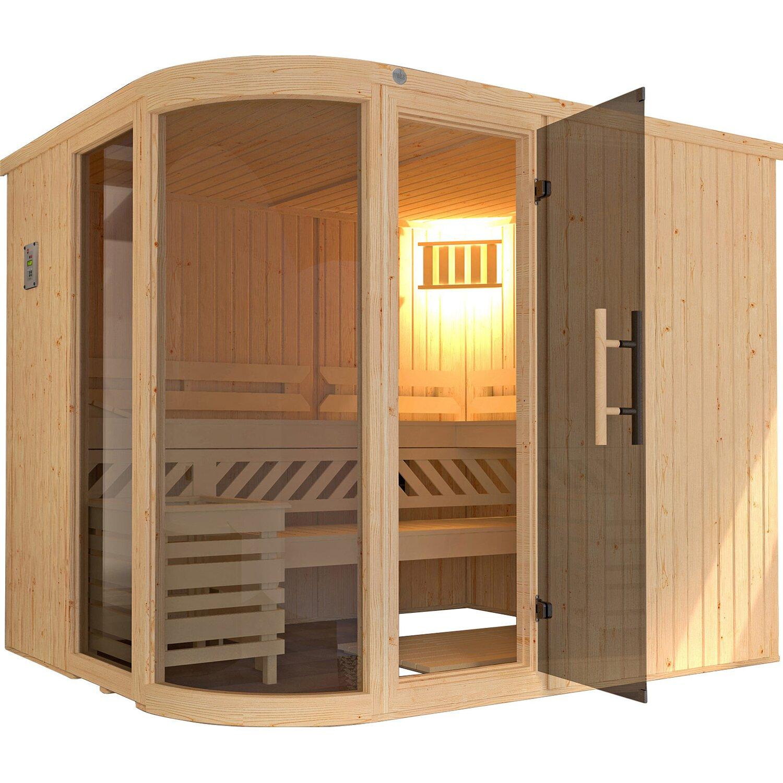 Weka Design-Sauna Sara BioS 244x194x199 günstig online kaufen
