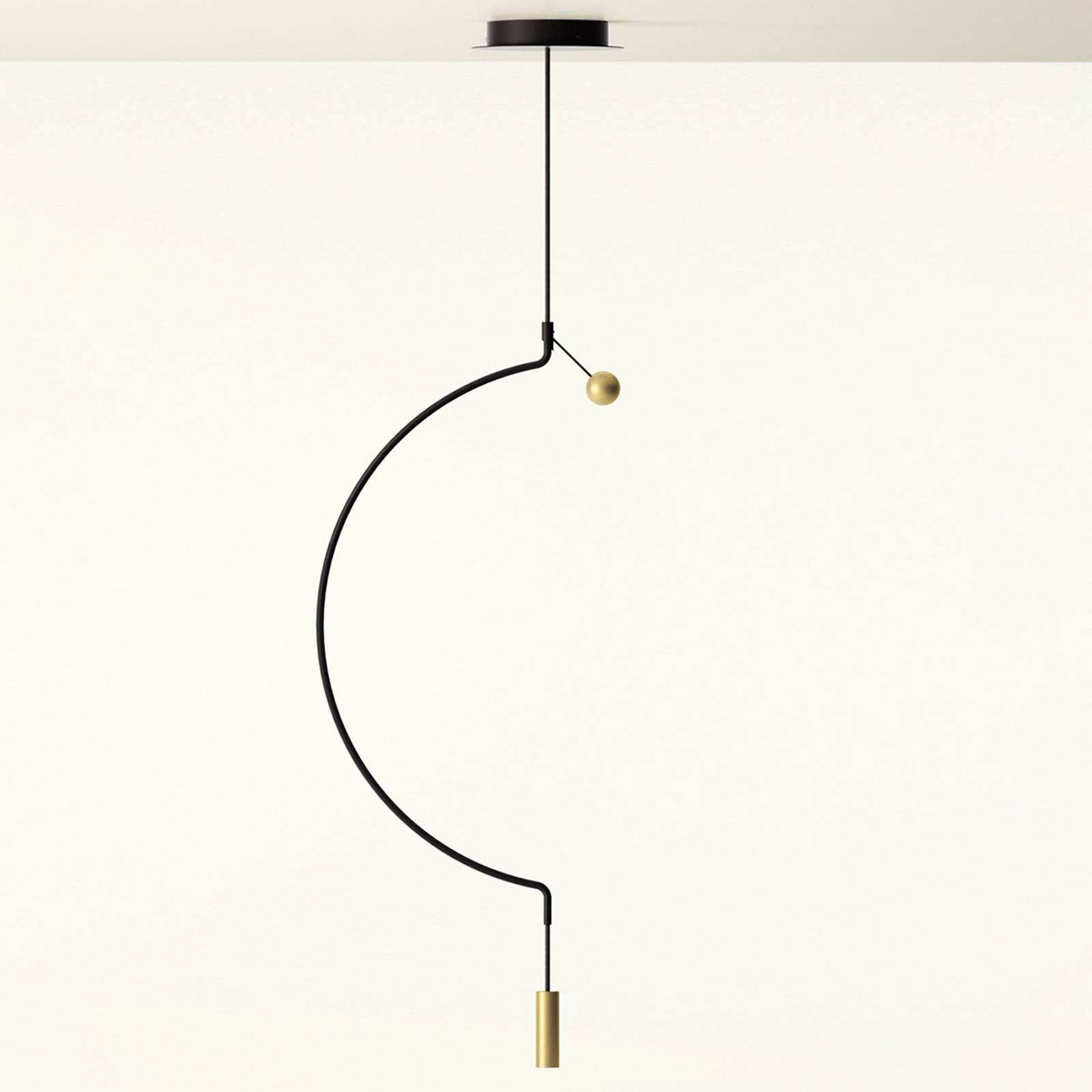 Axolight Liaison M1 Pendellampe schwarz/gold 46cm günstig online kaufen
