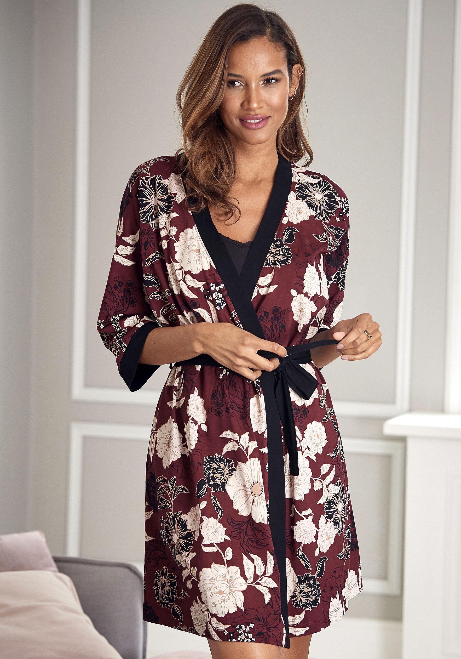 Kimono, s.Oliver, mit Blumen-Dessin günstig online kaufen