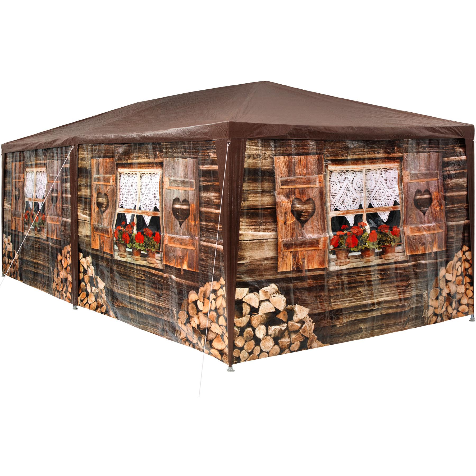 Garten Pavillon 6x3m Almhütte mit 6 Seitenteilen günstig online kaufen