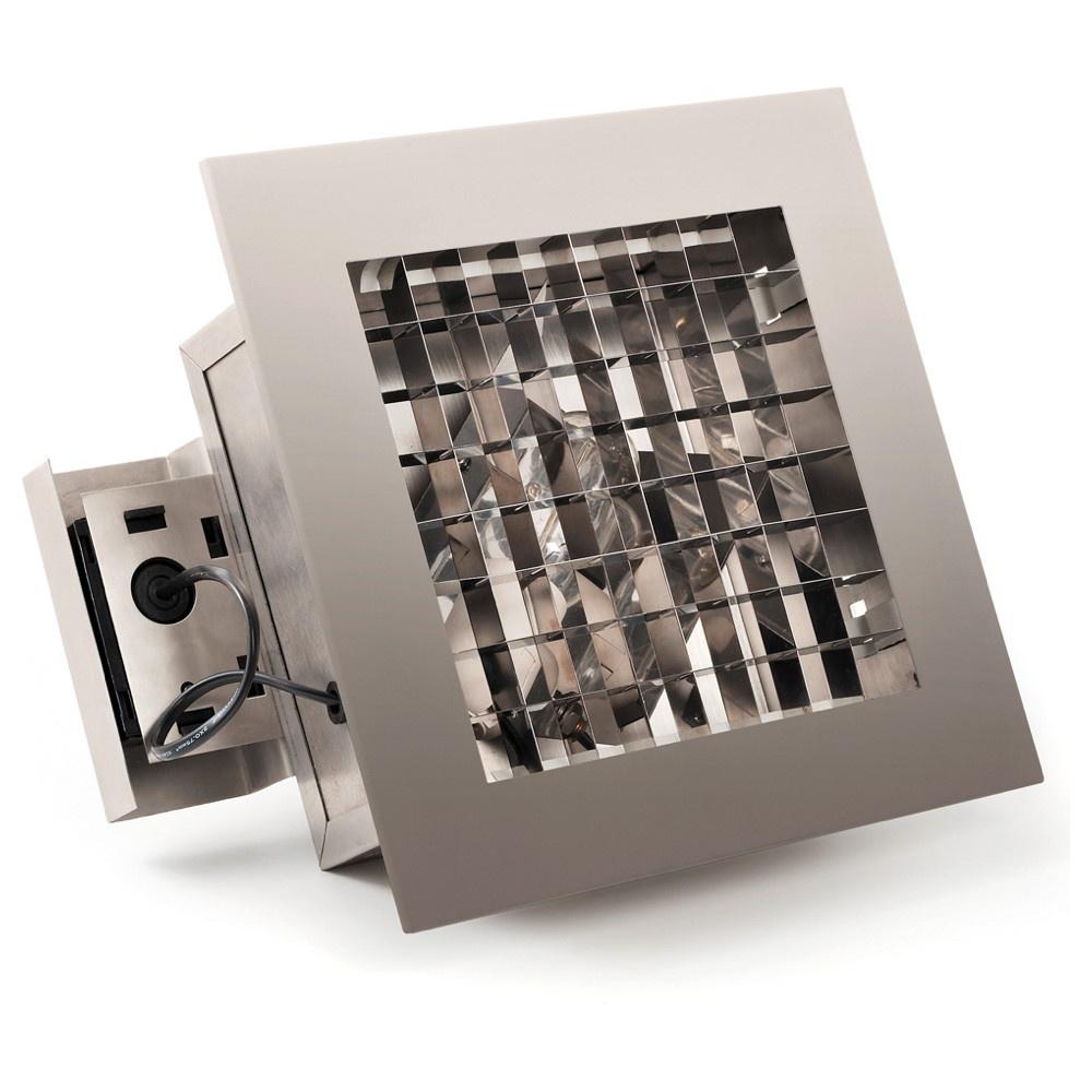 Funktinelle Einbauleuchte aus Aluminium in edelstahl und Acrylglas, E27 Fas günstig online kaufen