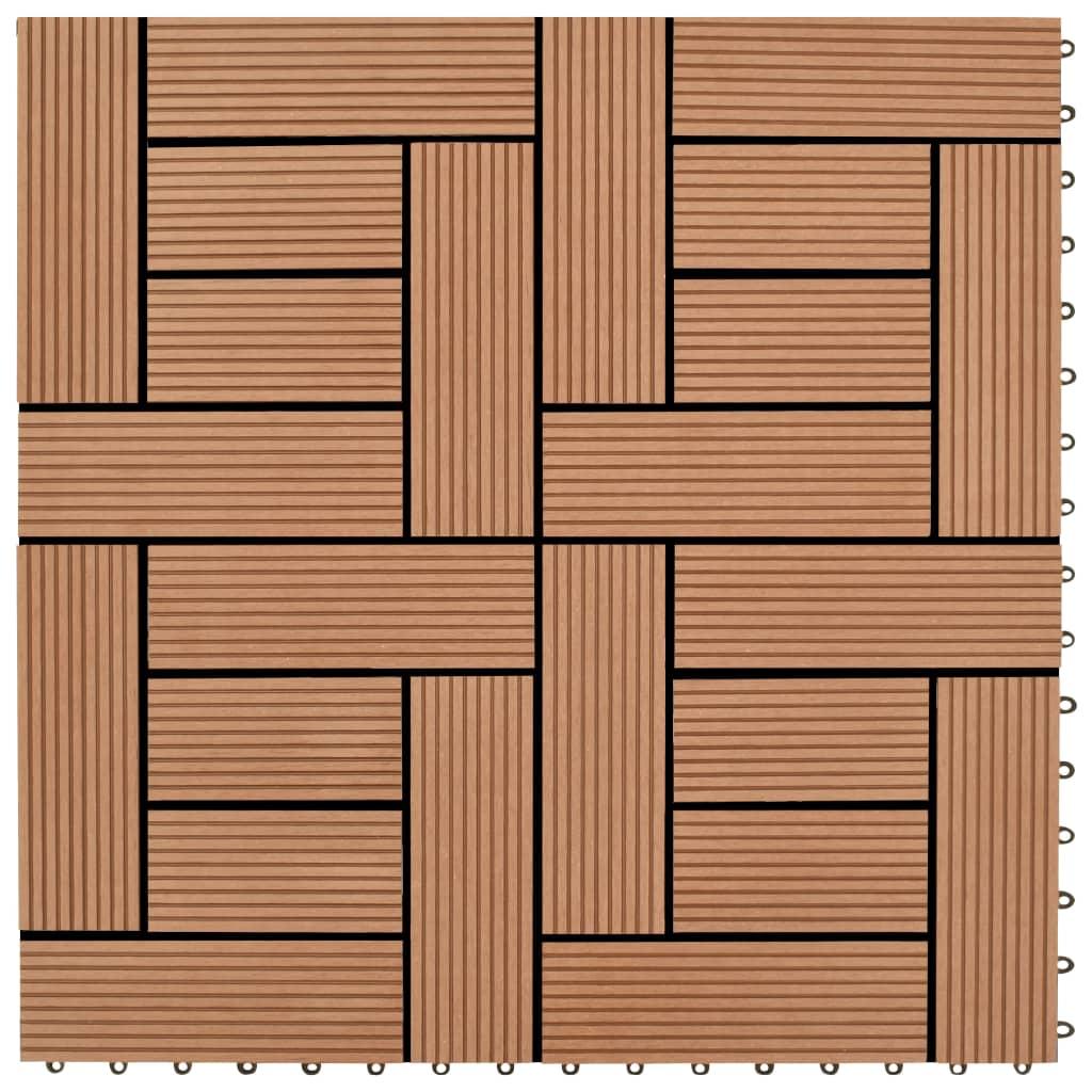 22 Stk. Terrassenfliesen 30 X 30 Cm 2 Qm Wpc Braun günstig online kaufen