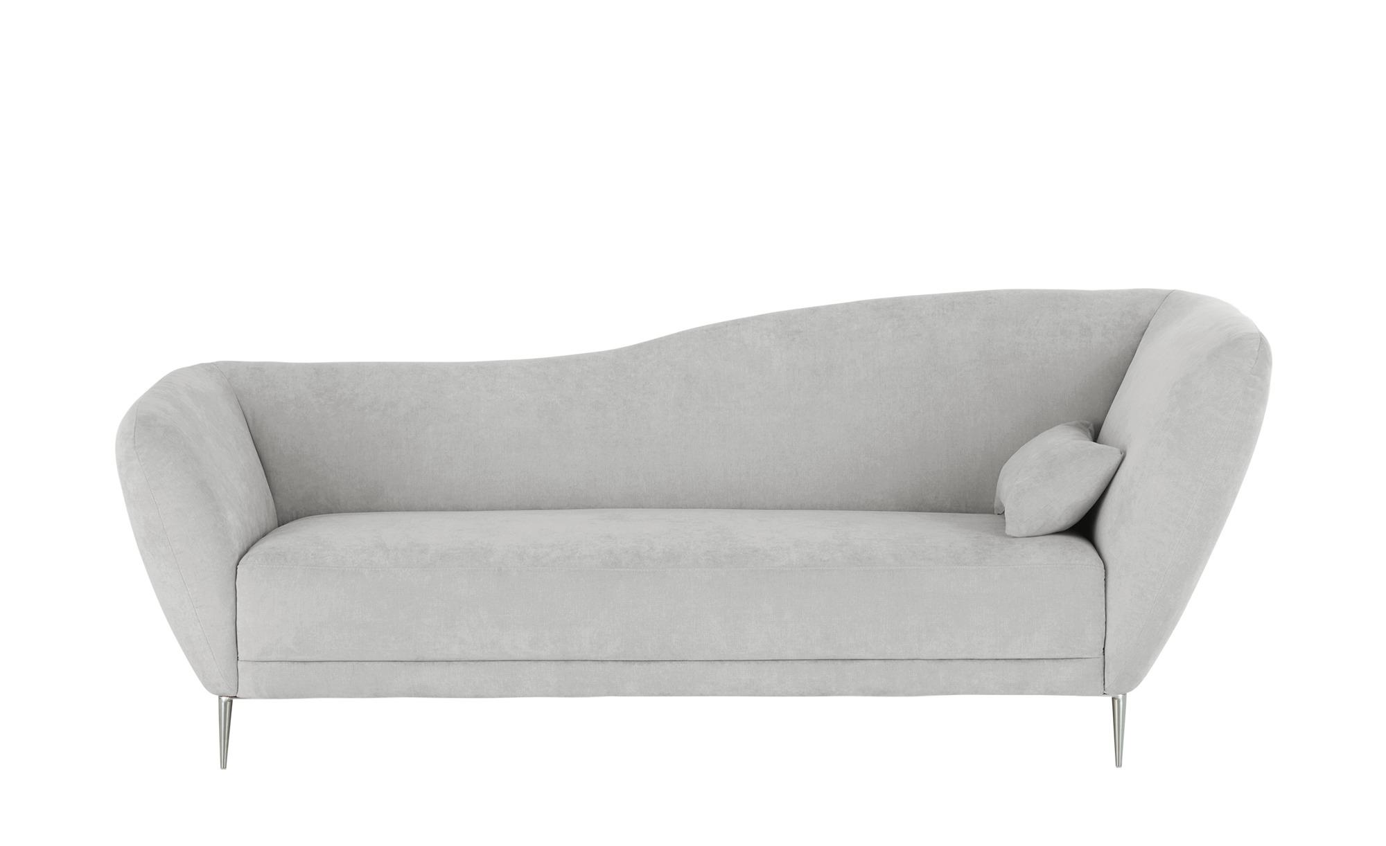 Gallery M Recamiere  Vittoria - grau - 222 cm - 85 cm - 97 cm - Polstermöbe günstig online kaufen