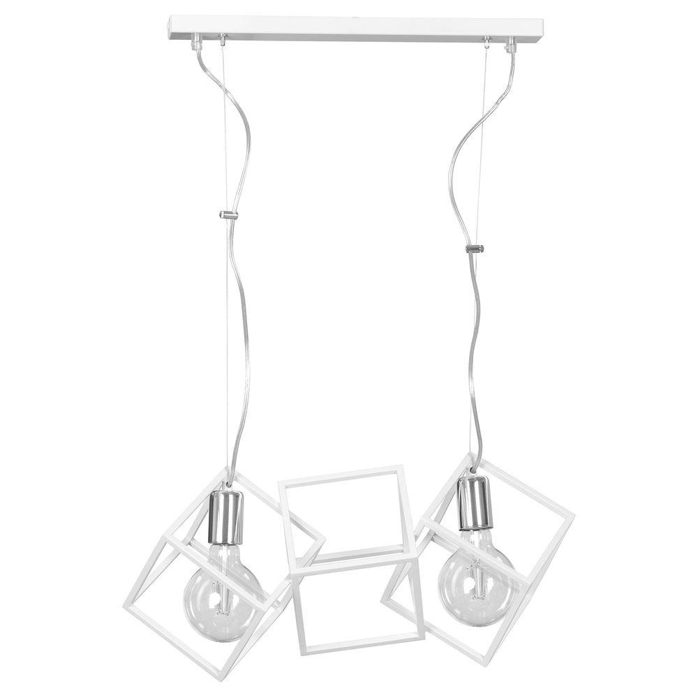 famlights   Pendelleuchte Svea aus Metall in Weiß 2 x E27 günstig online kaufen