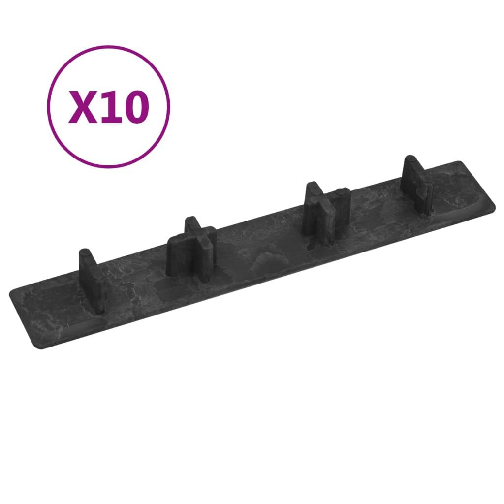 Endkappen Für Terrassendielen 10 Stk. Schwarz Kunststoff günstig online kaufen
