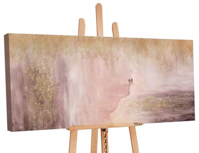 "YS-Art™ ""Gemälde Acryl """"Planet 2"""" handgemalt auf Leinwand"" rosa Gr. 100 x günstig online kaufen"