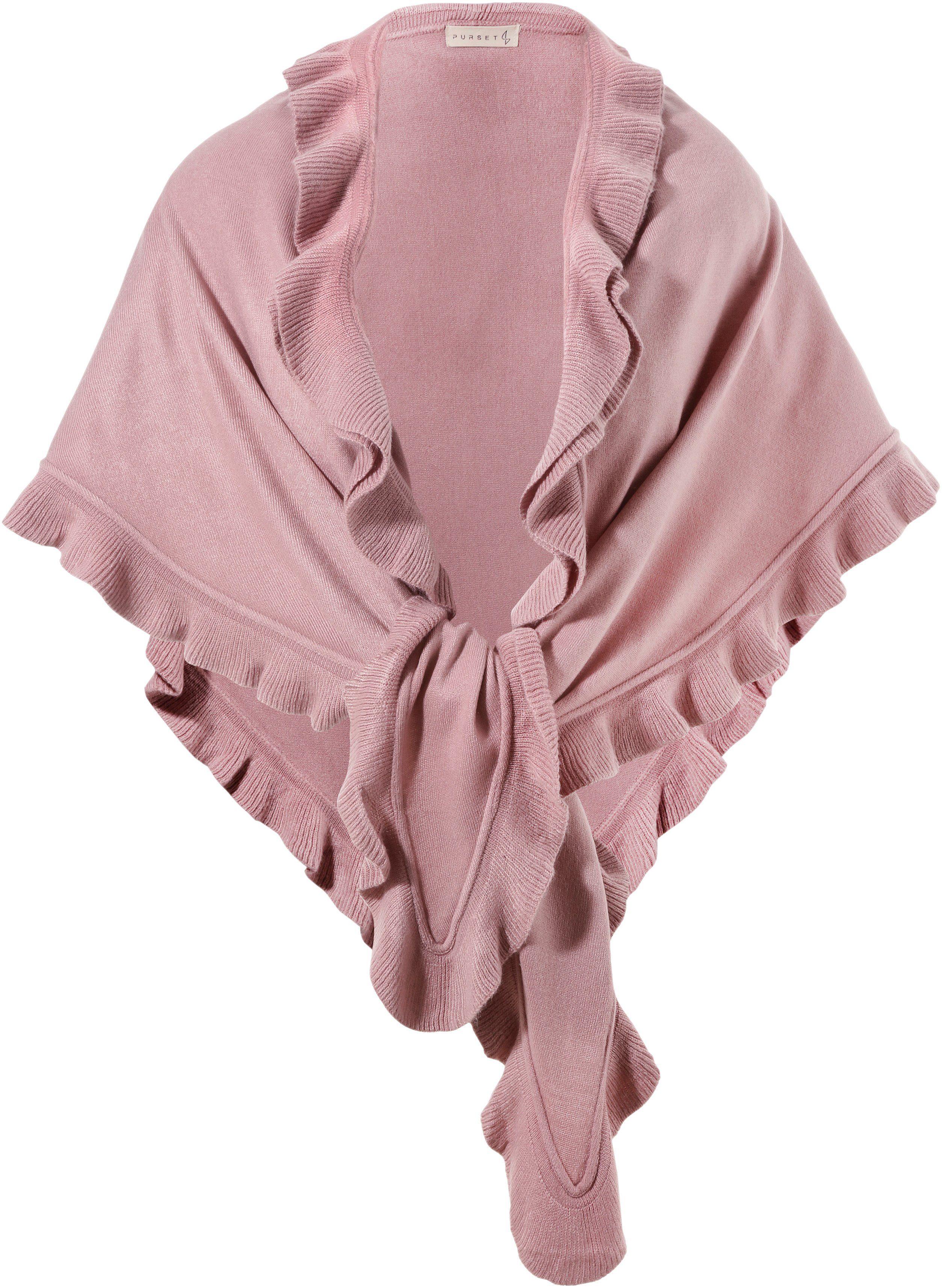 PURSET Schal, Trachtenponcho mit Rüschen günstig online kaufen