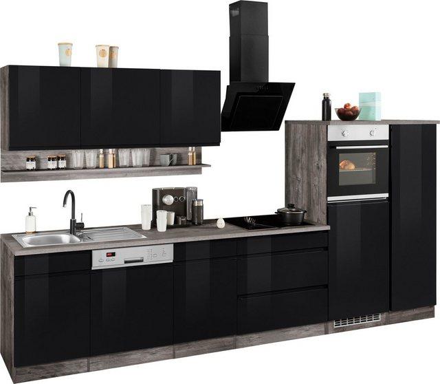 HELD MÖBEL Küchenzeile »Virginia«, mit E-Geräten, Breite 350 cm günstig online kaufen