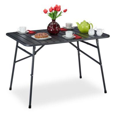 relaxdays Gartentisch klappbar Metall anthrazit günstig online kaufen