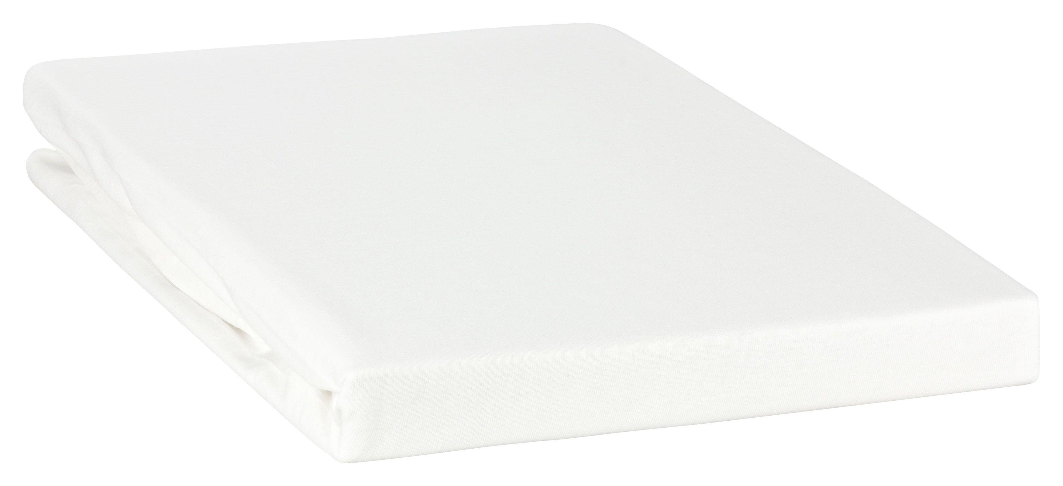"""Spannbetttuch """"Line green"""" auch für`s Wasserbett 180x200 - 200x220-weiß günstig online kaufen"""