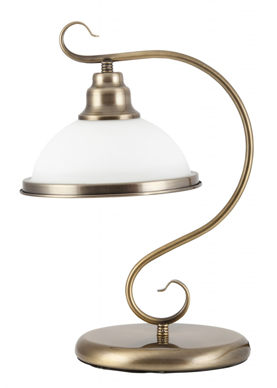 Tischlampe Glas antik bronze E27 Elisett günstig online kaufen