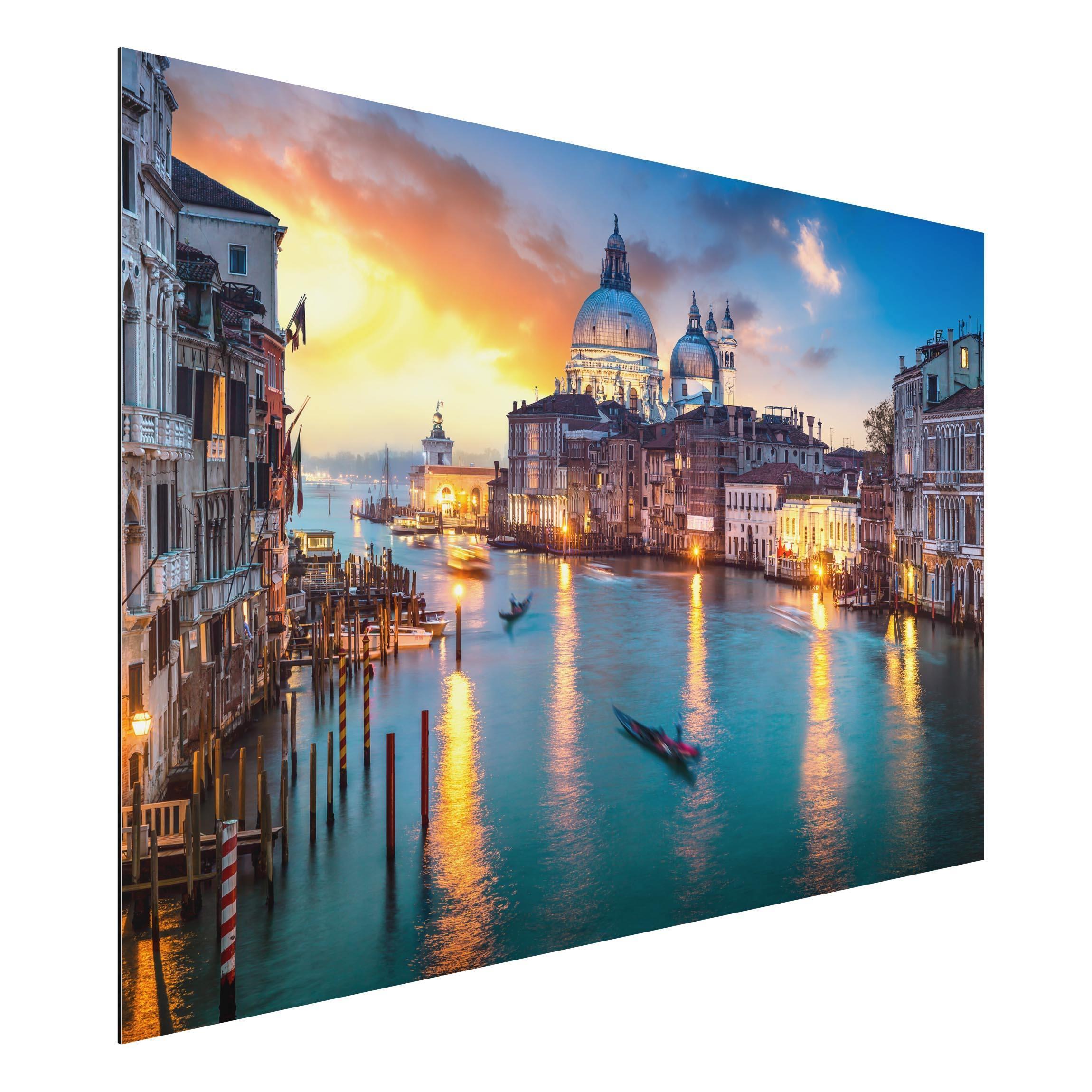Alu-Dibond Bild Sunset in Venice günstig online kaufen