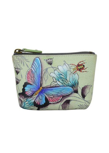 ANUSCHKA Mini Geldbörse »Wondrous Wings aus handbemaltem Leder«, mit Reißve günstig online kaufen