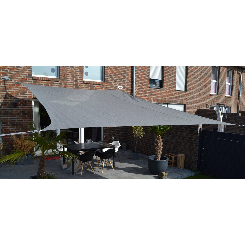Floracord Vierecksonnensegel HDPE Silbergrau 250 cm x 300 cm günstig online kaufen
