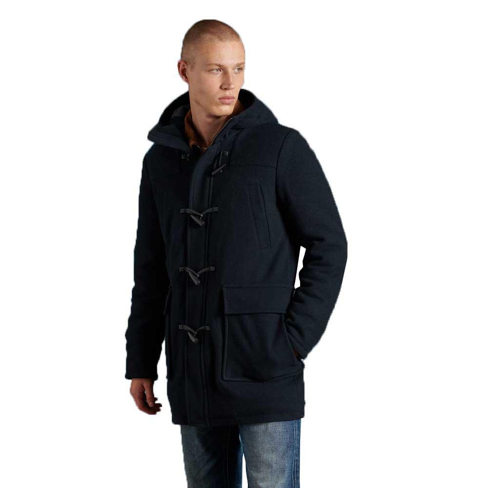 Superdry Wolle Duffle Mantel S Dark Navy günstig online kaufen
