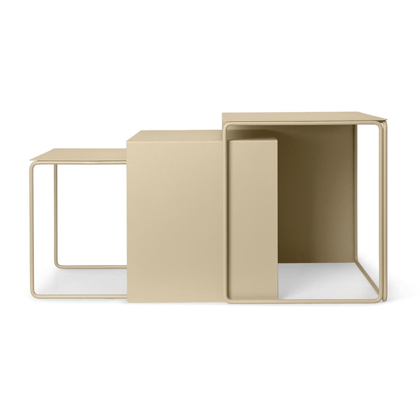 Ferm Living Cluster Beistelltisch 3er Set Cashmere günstig online kaufen