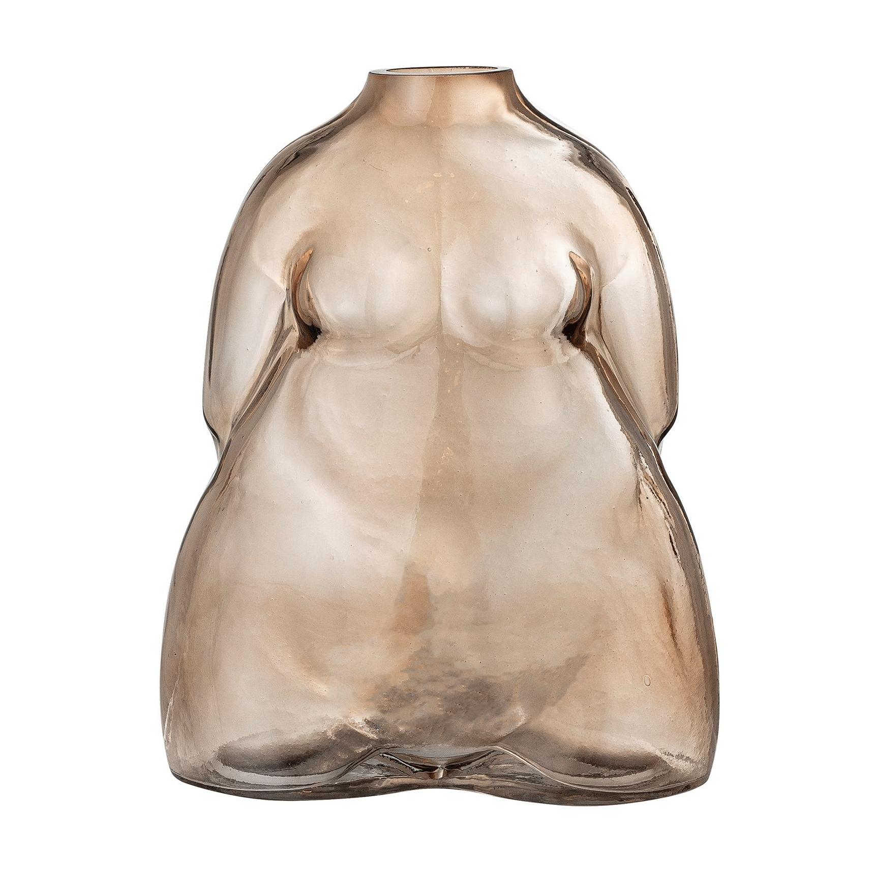 Bloomingville - Evie Vase - braun/LxBxH 15x11,5x19cm günstig online kaufen