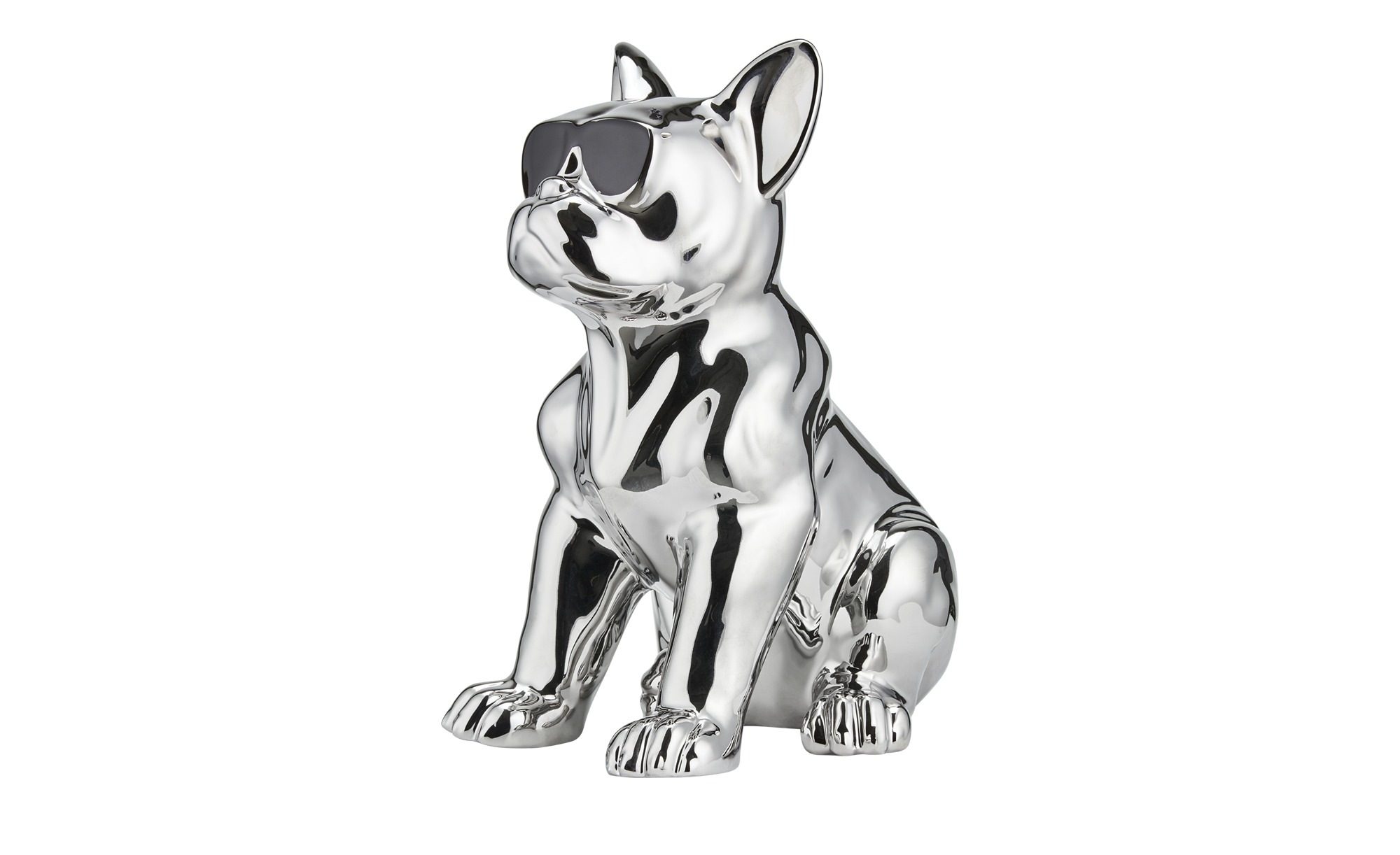 Deko Hund - silber - Porzellan - Dekoration > Dekoartikel - Möbel Kraft günstig online kaufen