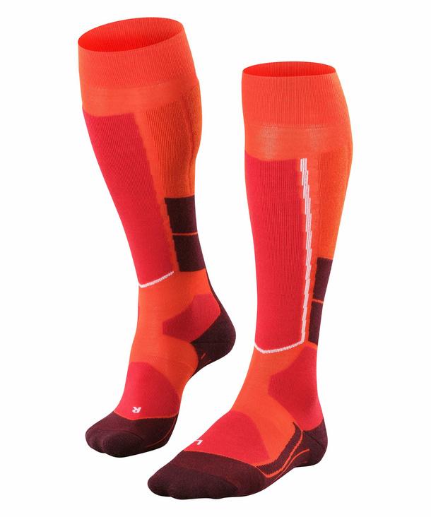 FALKE ST4 Wool Damen Ski Kniestrümpfe, 35-36, Orange, 16597-818201 günstig online kaufen