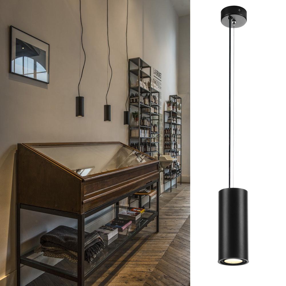 LED Pendelleuchte Supros, rund ø 78 mm, schwarz günstig online kaufen
